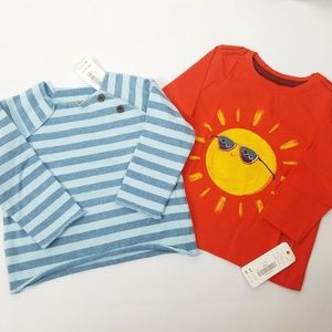 Bundle of 2 Gymboree boys long sleeve tee shirts